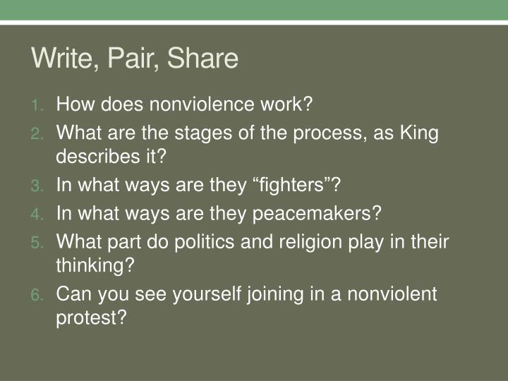 Write, Pair, Share