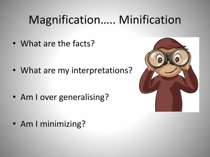 Magnification….. Minification