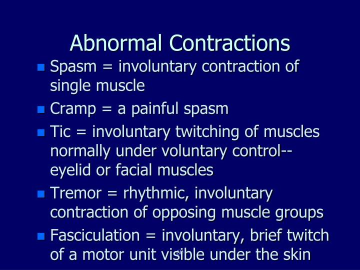 Abnormal Contractions