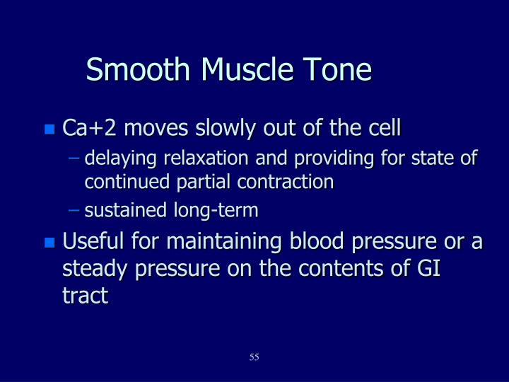 Smooth Muscle Tone