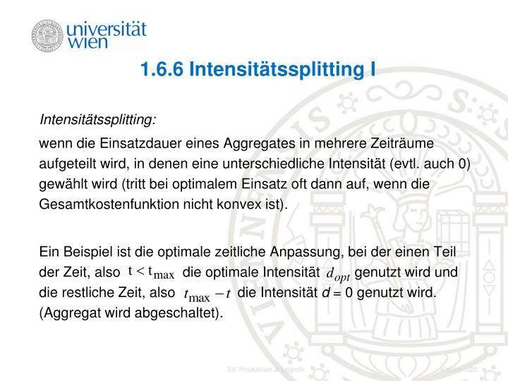 1.6.6 Intensitätssplitting I