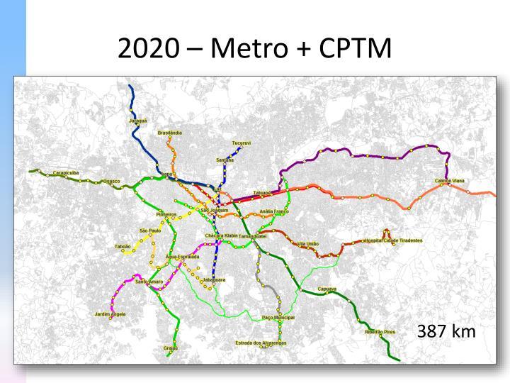 2020 – Metro + CPTM