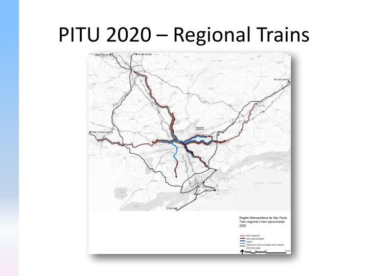 PITU 2020 – Regional Trains