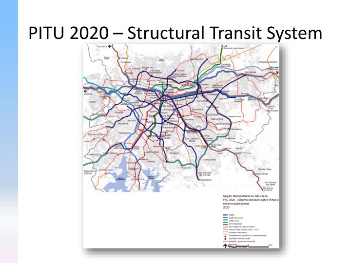 PITU 2020 – Structural Transit System