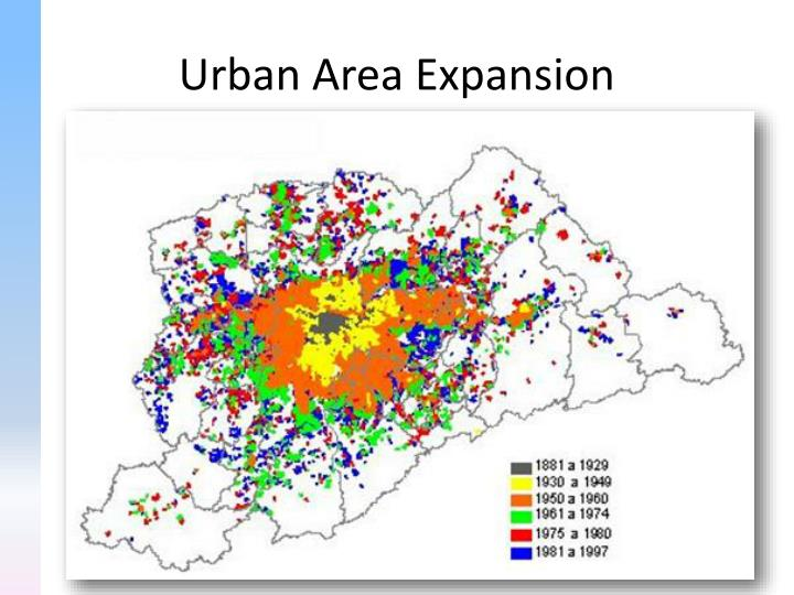 Urban area expansion