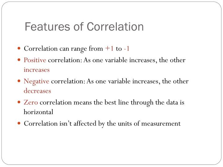 Features of Correlation