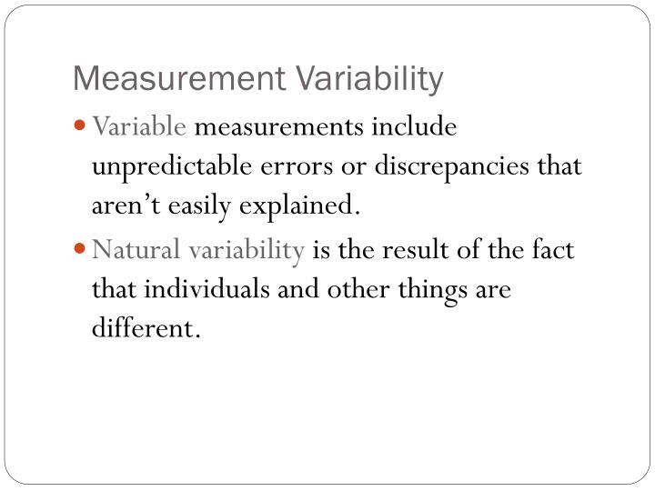 Measurement Variability