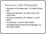newsroom math bibliography