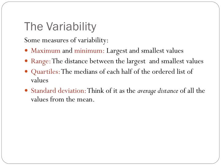 The Variability