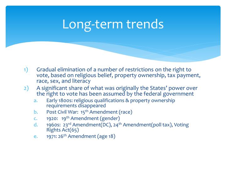 Long-term trends