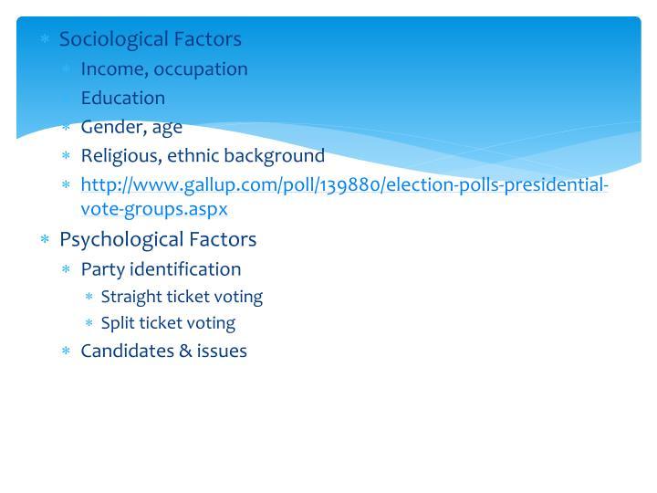 Sociological Factors