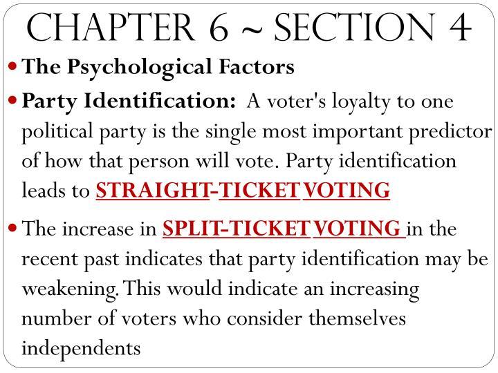 factors influencing voting behavior