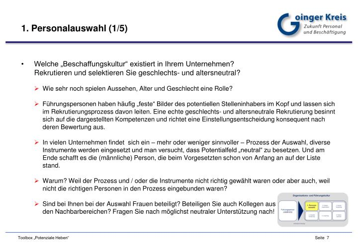 1. Personalauswahl (1/5)