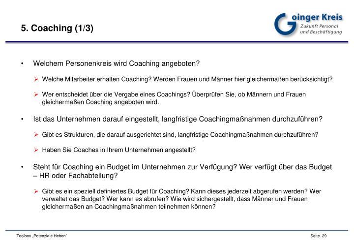 5. Coaching (1/3)