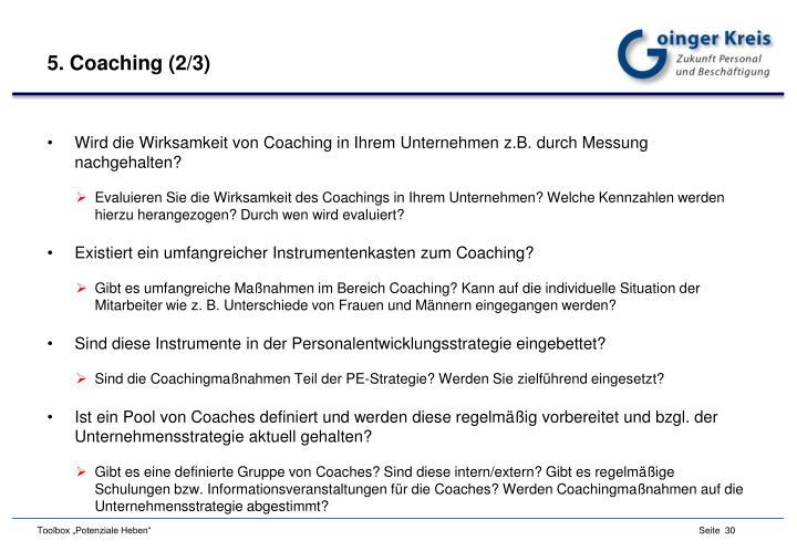 5. Coaching (2/3)