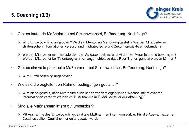 5. Coaching (3/3)