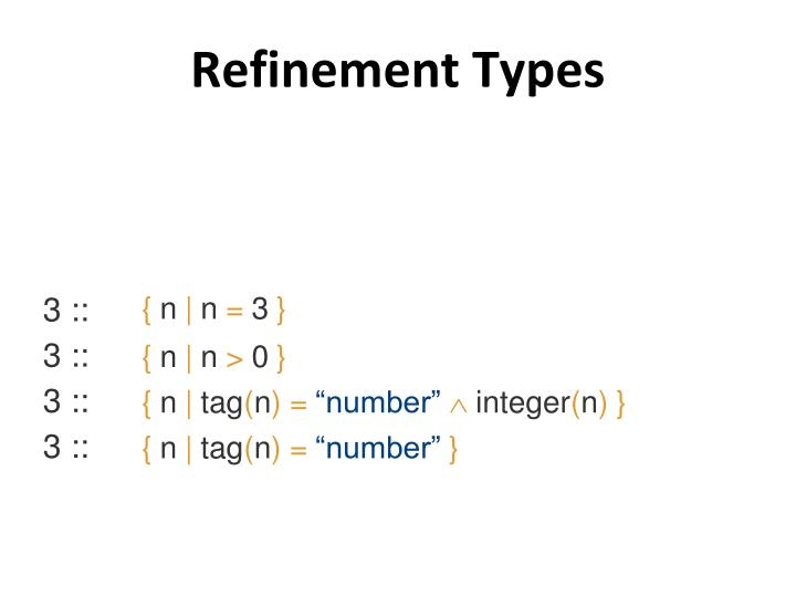 Refinement Types