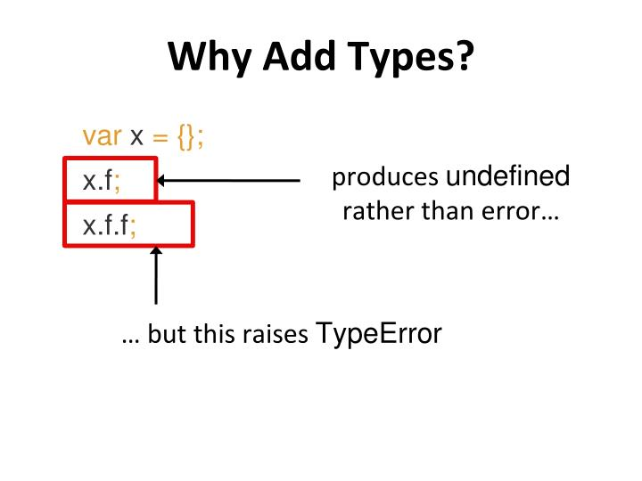 Why Add Types?