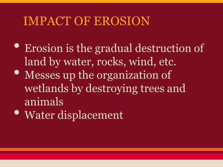 IMPACT OF EROSION