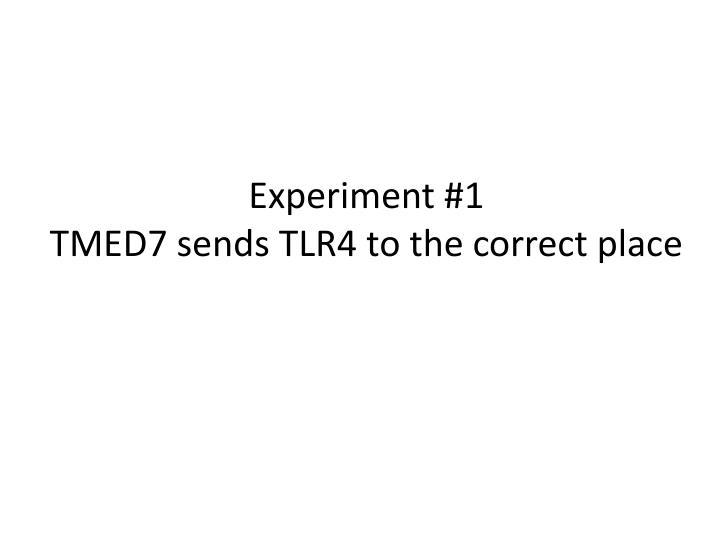 Experiment #