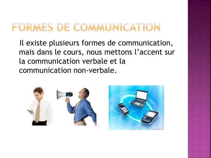 Formes de communication