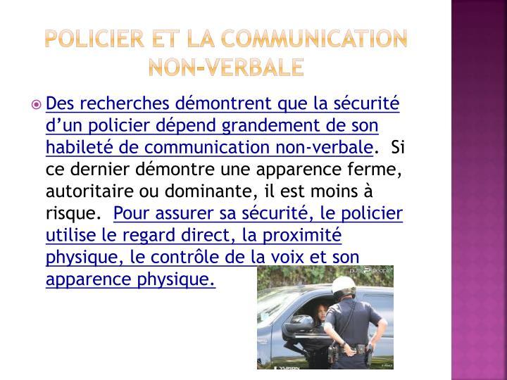 Policier et la communication non-verbale