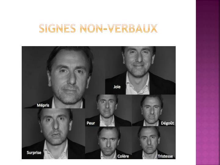 Signes non-verbaux