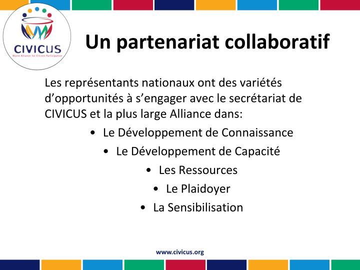 Un partenariat collaboratif