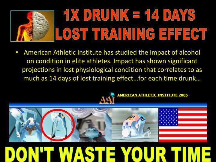 1X DRUNK = 14 DAYS