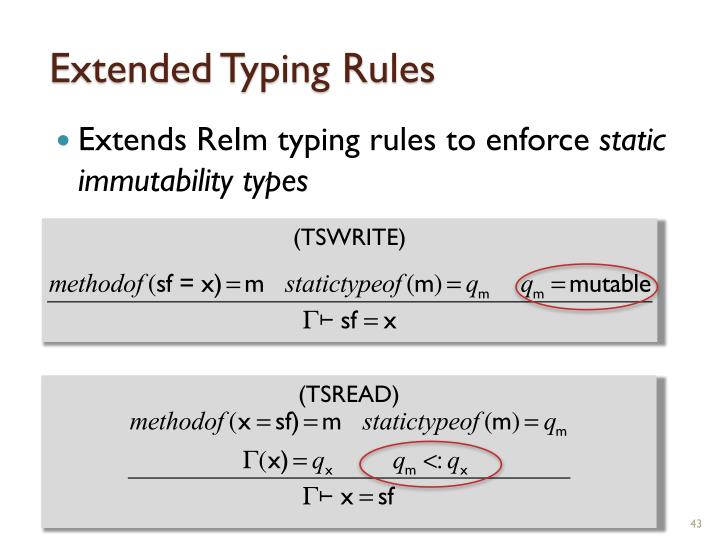 Extended Typing Rules