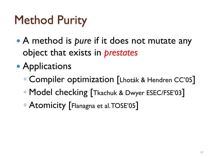 Method Purity