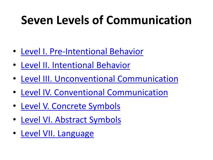 Seven Levels of Communication