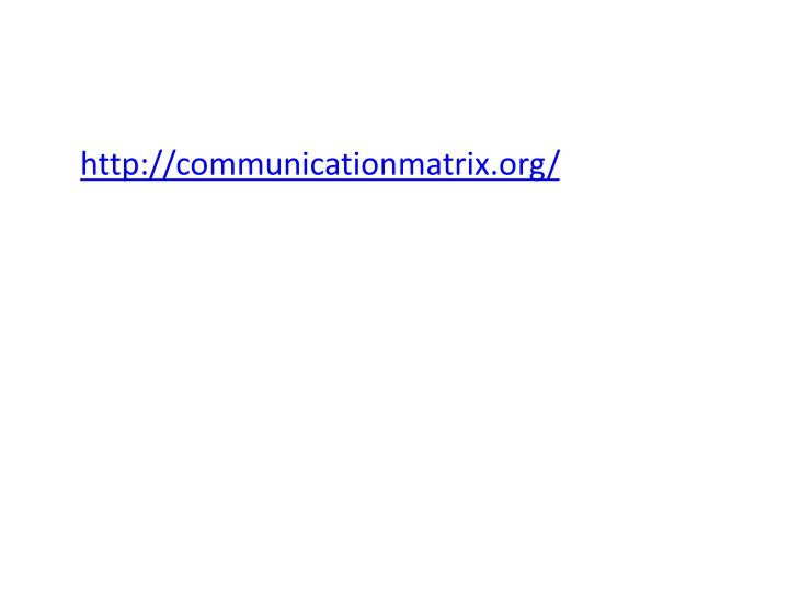 http://communicationmatrix.org/