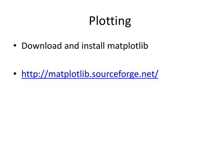 Plotting