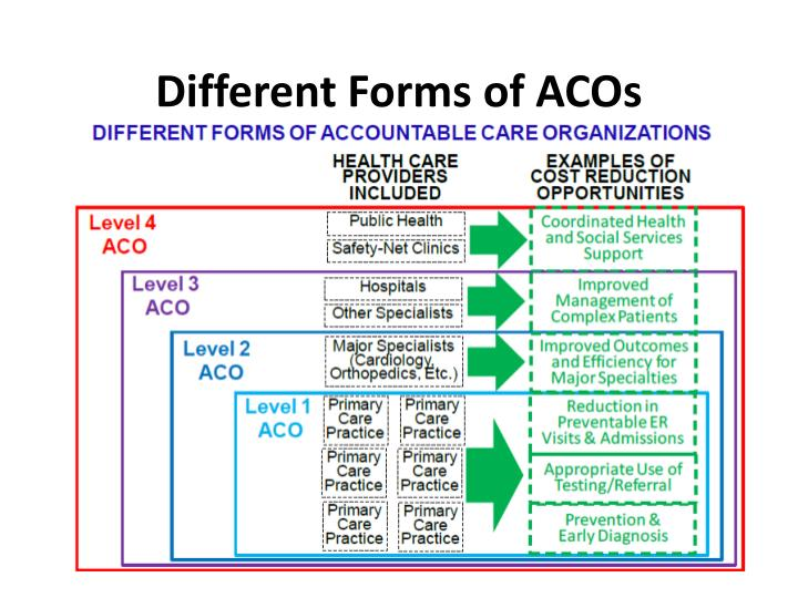 Different Forms of ACOs