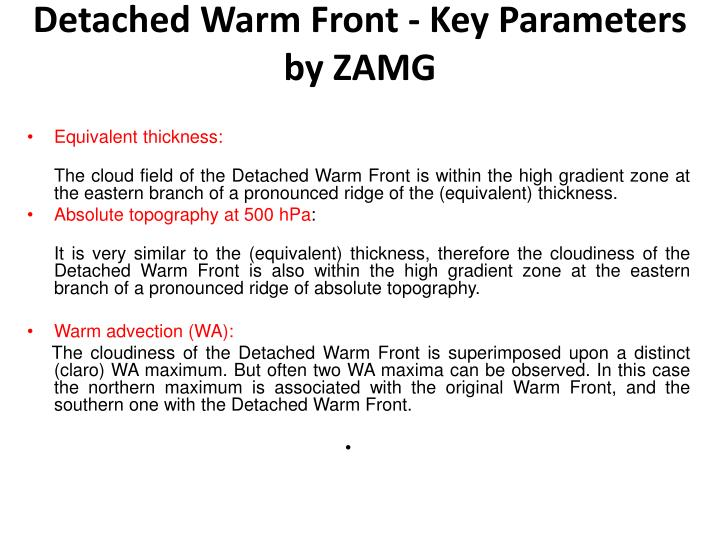 Detached warm front key parameters by zamg