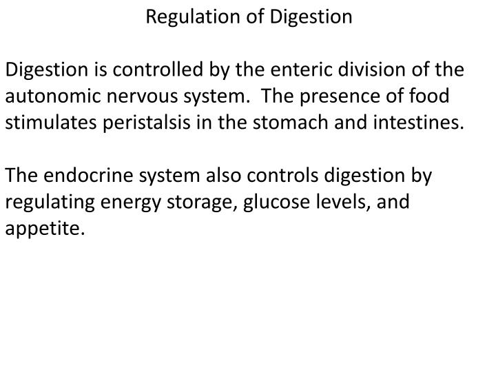 Regulation of Digestion