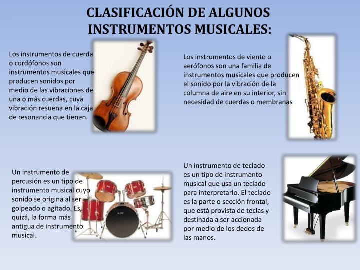 CLASIFICACIÓN DE ALGUNOS