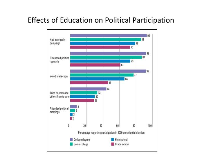 the internets effect on political participation Media platforms on the online and offline political participation of voters of  p18 ), despite the impacts of internet tools on the political sphere around the world.