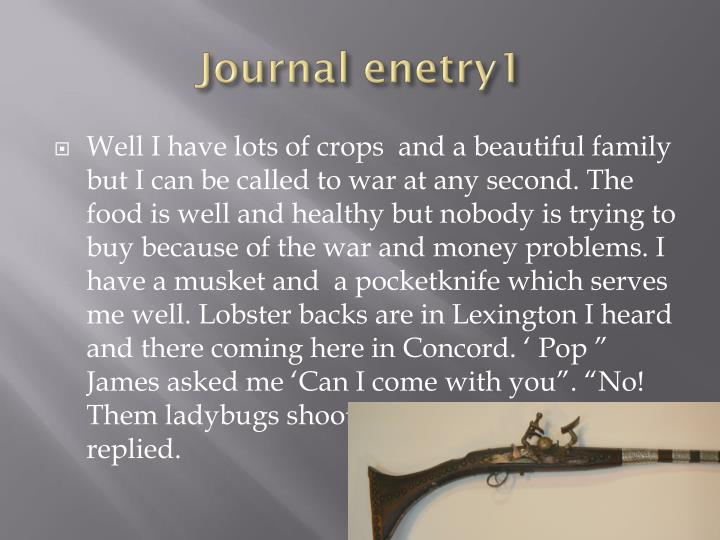 Journal enetry