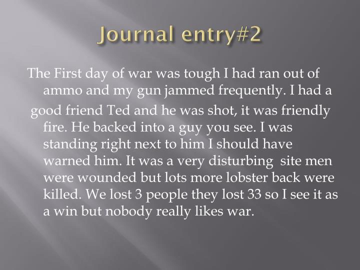 Journal entry#2