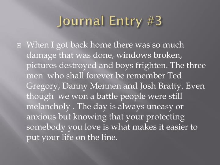 Journal Entry #3