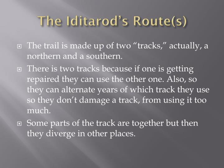 The Iditarod's Route(s)