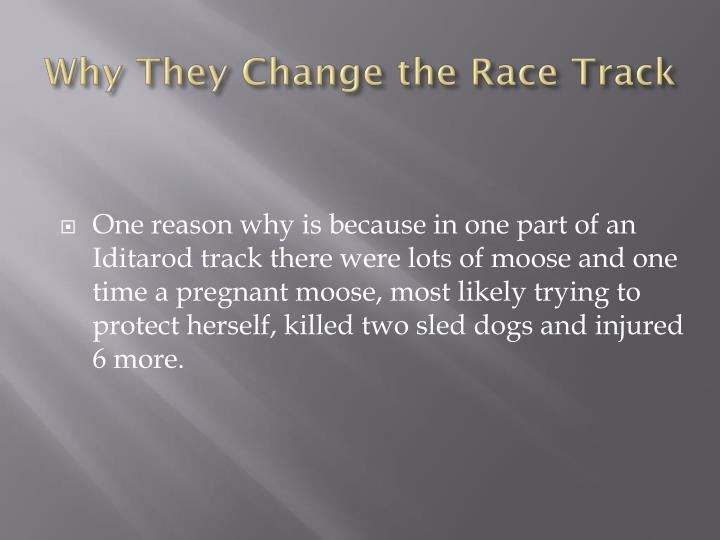 Why They Change the Race Track