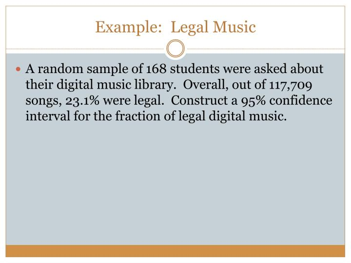 Example:  Legal Music