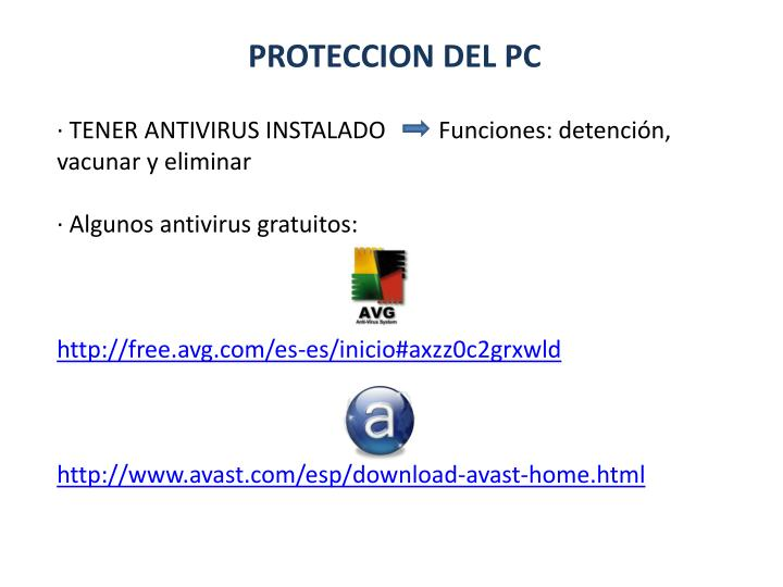 PROTECCION DEL PC