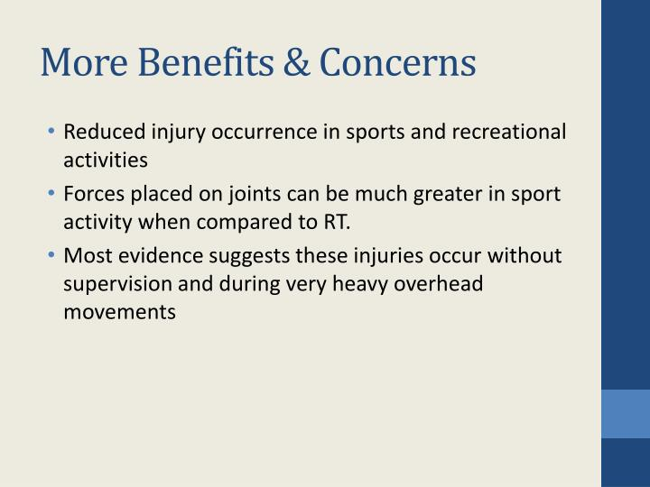 More Benefits & Concerns