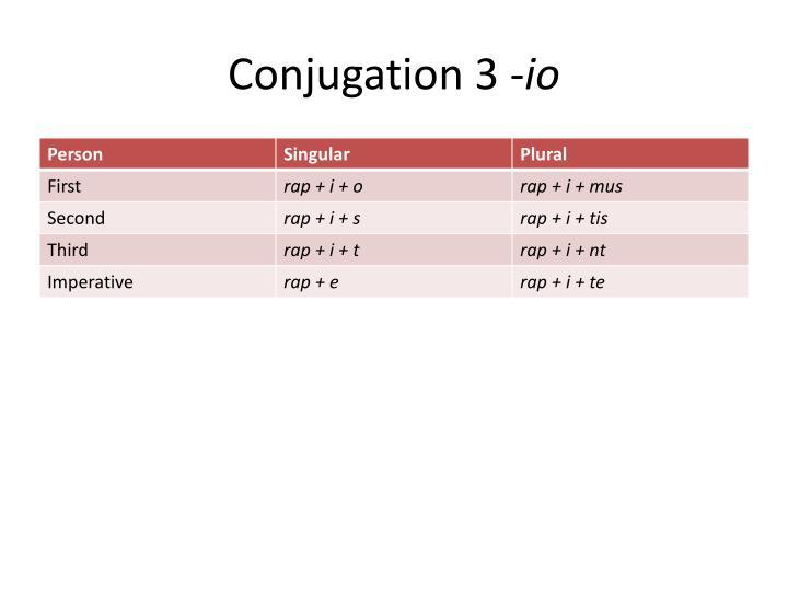 Conjugation 3 -