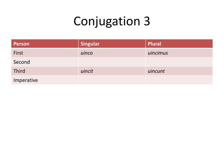 Conjugation 3