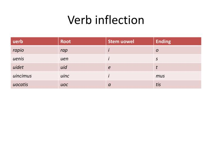 Verb inflection
